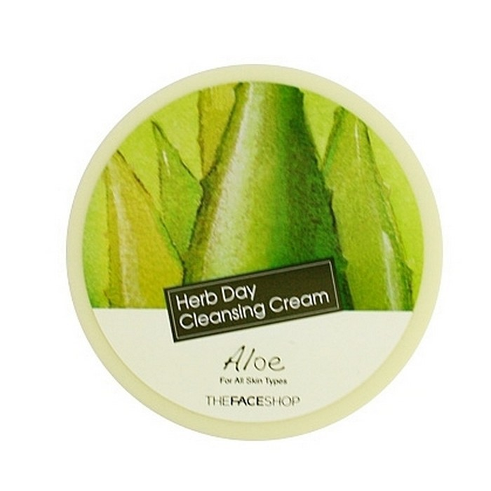 KEM TẨY TRANG THE FACE SHOP HERB DAY CLEANSING CREAM ALOE