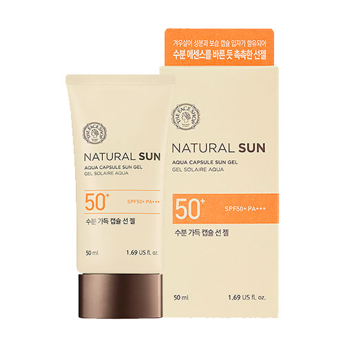 KEM CHỐNG NẮNG THE FACE SHOP NATURAL SUN ECO AQUA CAPSULE SUN GEL SPF50 PA+++