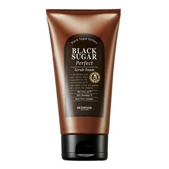 Sữa Rửa Mặt Làm Sạch Sâu Và Tẩy Da Chết Skinfood Black Sugar Perfect Scrub Foam 180g