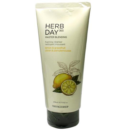 Sữa Rửa Mặt Chanh & Bưởi Herb Day 365 Master Blending Foaming Cleanser 170ml
