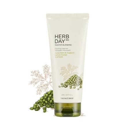 Sữa Rửa Mặt Đậu Xanh & Ngải Cứu Herb Day 365 Master Blending Foaming Cleanser 170ml